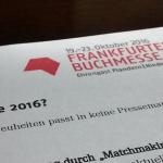 Die Frankfurter Buchmesse – 19. – 23. Oktober 2016